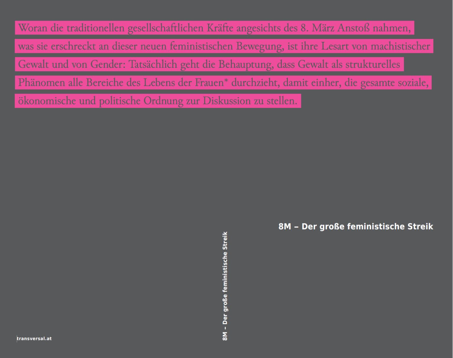 Bucheinband 8M-Der große feministische Streik